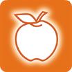Der Apfel im Logo steht für Vitalität, Kraft und Gesundheit